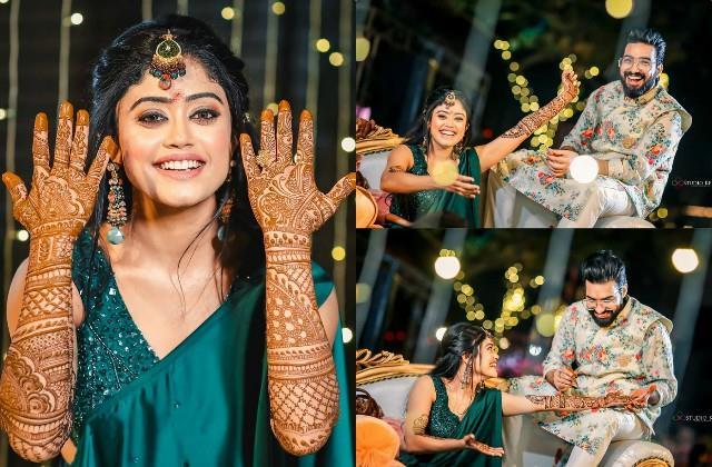 bekhayali fame sachet tandon parampara thakur mehendi ceremony pictures viral