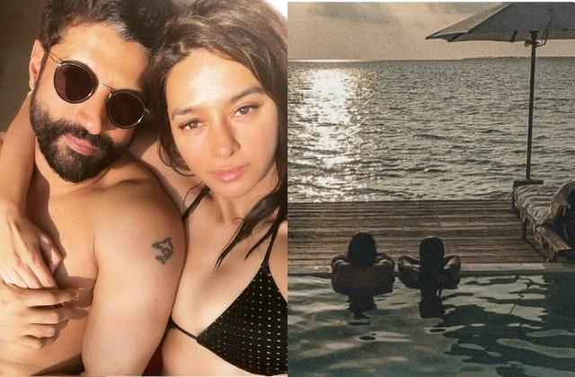 farhan akhtar and girlfriend shibani dandekar enjoying vacation in maldives