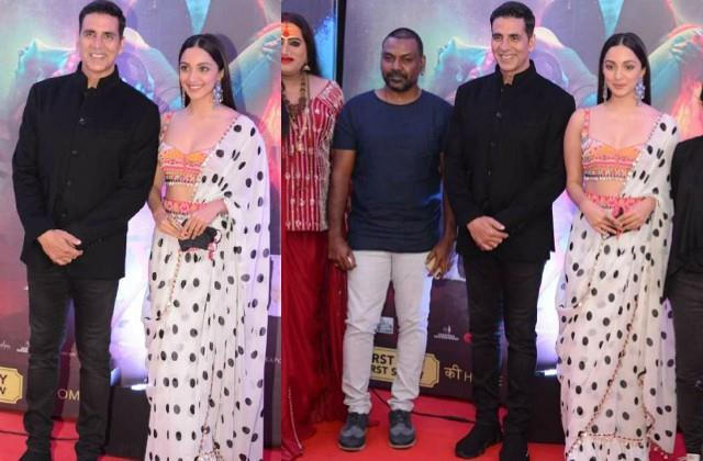 akshay kumar and kiara advani film laxmii premiere in delhi