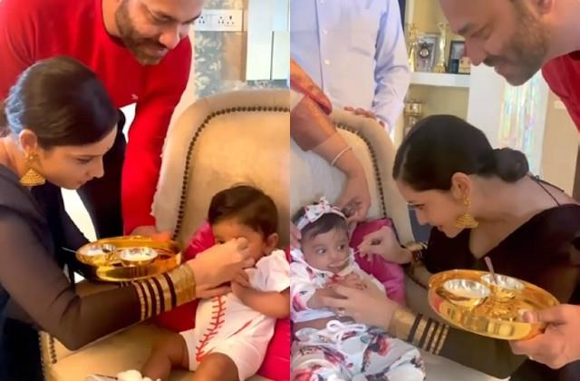 ankita lokhande feeds to vicky jains sisters kids