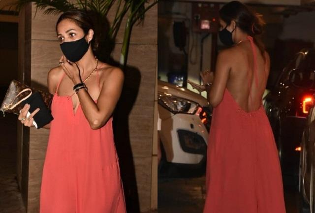 malaika arora shows off her glamorous style in backless gown