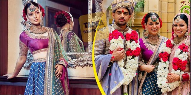 kangana ranaut looks beautiful in her brother akshat wedding