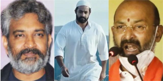 telangana bjp leader threat rajamouli over represent komaram bheem muslim look