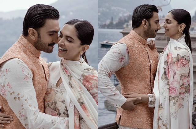 ranveer singh post adorable photos with deepika on second wedding anniversary