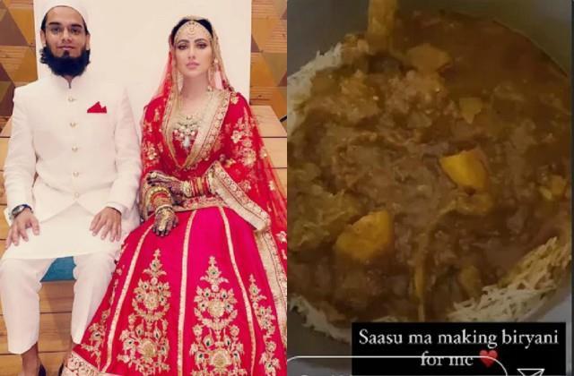 ससुराल में हुआ सना खान का जोरदार स्वागत, सासू मां ने बनाई बहू के लिए 'बिरयानी' तो पति ने पोस्ट शेयर कर लुटाया प्यार