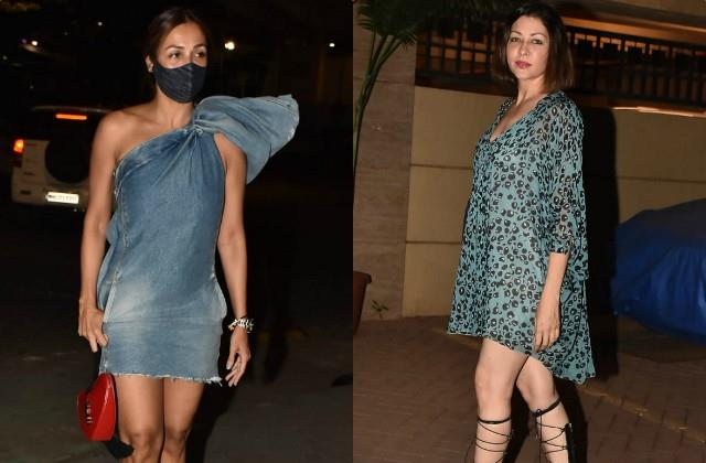 malaika arora and aditi govitrikar spotted in bandra