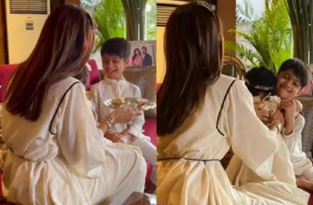 shilpa shetty shared son viaan and daughter samisha bhai dooj video