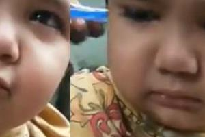 cute child haircut vedio viral on social media