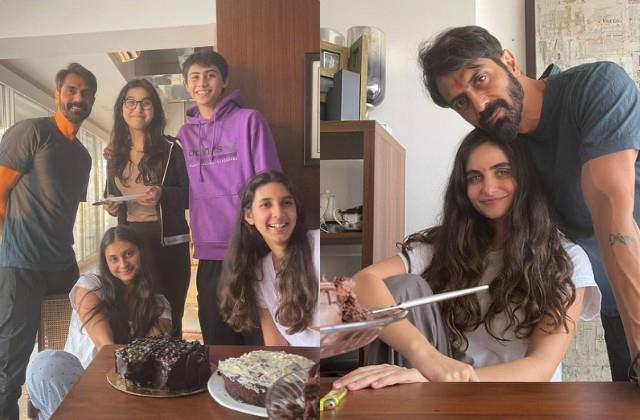 arjun rampal celebrated his 48th birthday with girlfriend and daughters