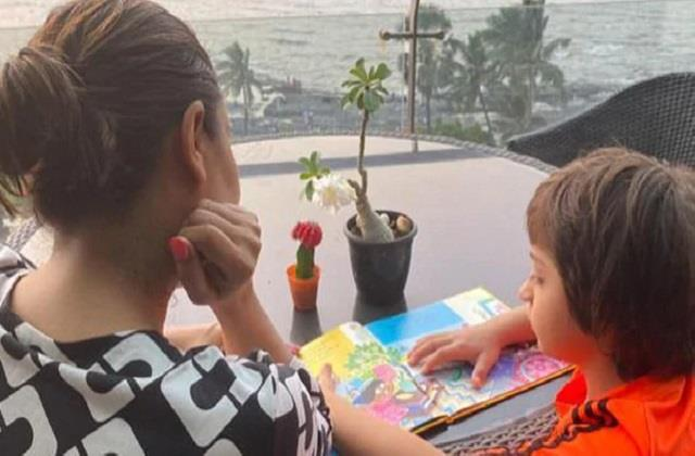 gauri khan shared with photo son abram khan