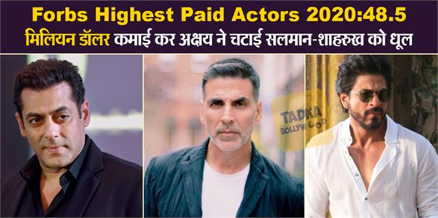 forbes highest paid actor 2020 akshay is the 6th highest paid actor in world
