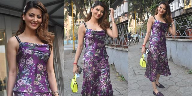 urvashi rautela looked gorgeous in floral dress