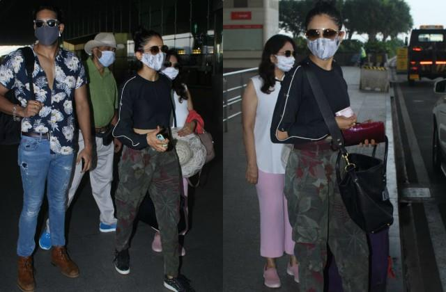 rakul preet left for maldives vacation with family