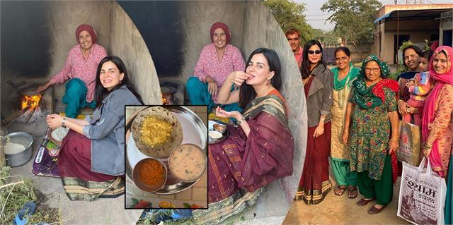 kirti kulhari celebrated diwali in her native village