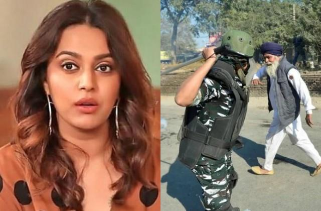 swara bhaskar reaction on army lathicharge on farmers