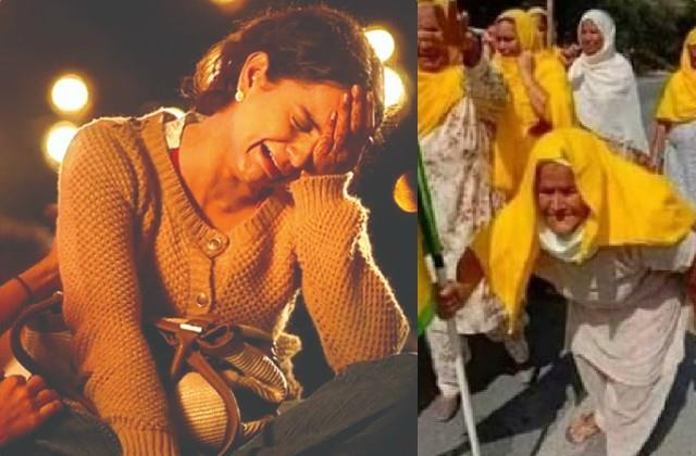 kangana ranaut make fun old lady who came in farmer protests