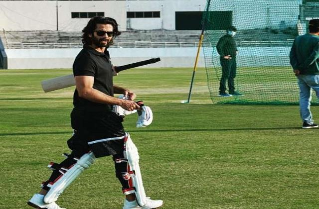 shahid started jersey practice and shared photo