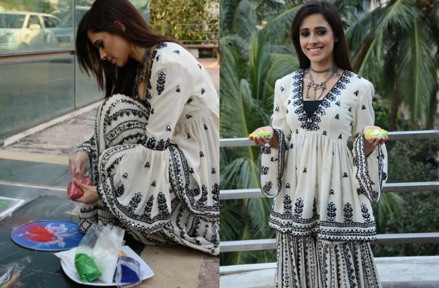 nushrat bharucha looked gorgeous in sharara dress