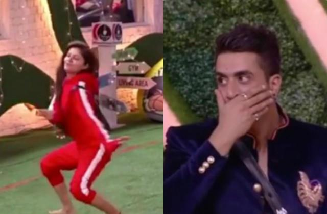 bigg boss 14 aly goni shocked to see rubina dilaik dance
