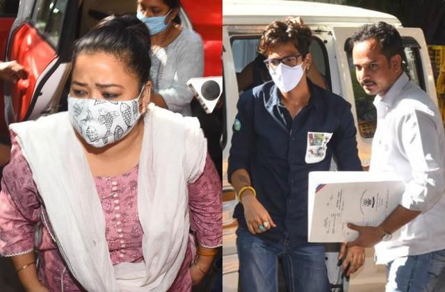 bharti singh arrives at ncb office with husband harsh in drugs case