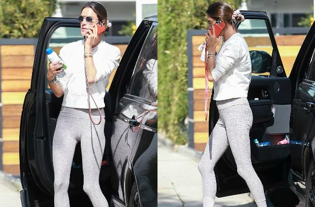alessandra ambrosio spotted los angeles streets for workout