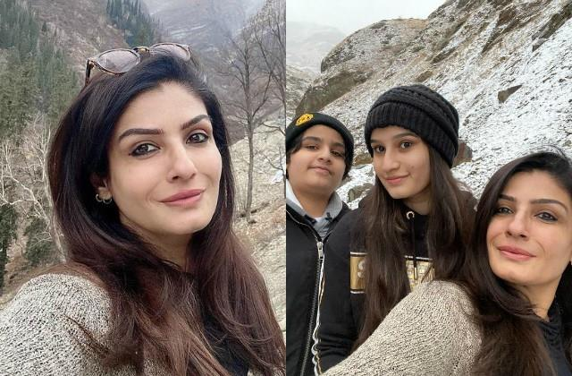 raveena tandon shares beautiful photos with her children from himachal