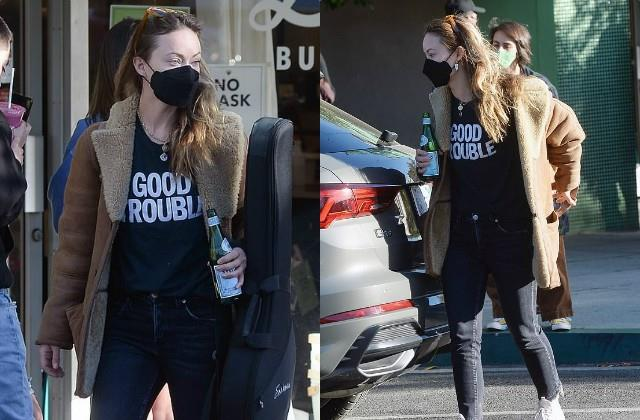 olivia wilde spotted at los angeles on black friday