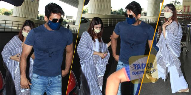 shehnaz gill and sidharth shukla spotted together at mumbai airport