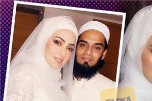 sana khan share her wedding pictures with hubby mufti anas