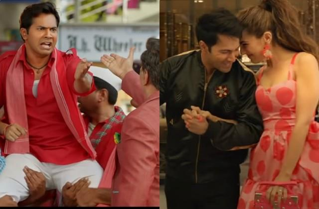 varun dhawan and sara ali khan film coolie no 1 trailer out