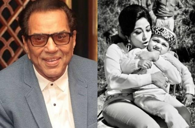 dharmendra shared an old photo of mala sinha with younger bobby deol