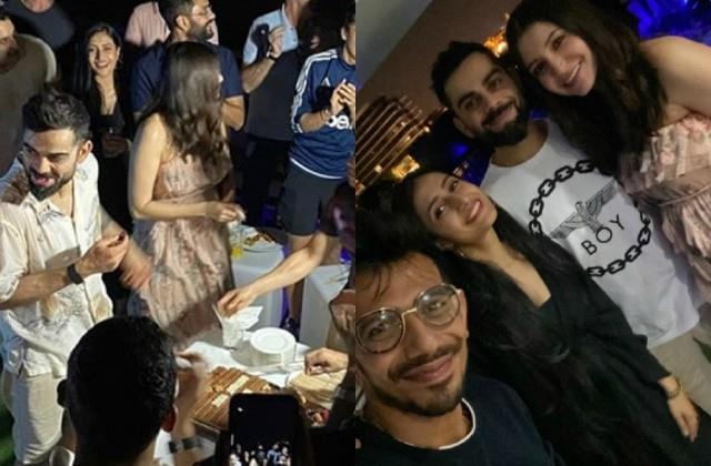 virat kohli celebrates 32 birthday with anushka sharma and team