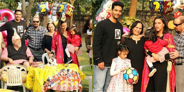 neha dhupia celebrate second birthday of her daughter meher