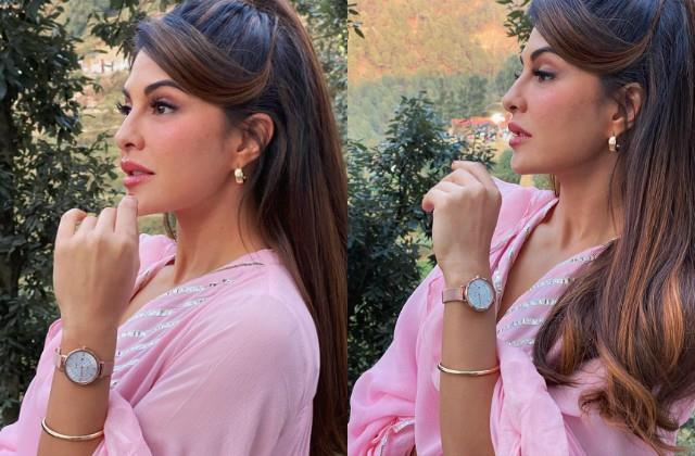 jacqueline fernandez shares her pinkish look photos