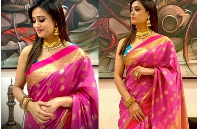 shweta tiwari looked stunning in saree