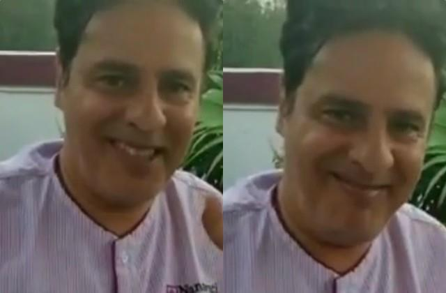 rahul roy waving and smiling in hospital days after suffering brain stroke