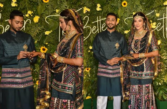 gauahar khan zaid darbar pre wedding mehndi and ring ceremony pictures