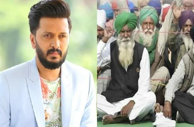 riteish deshmukh support farmers says if you eat thank to farmers
