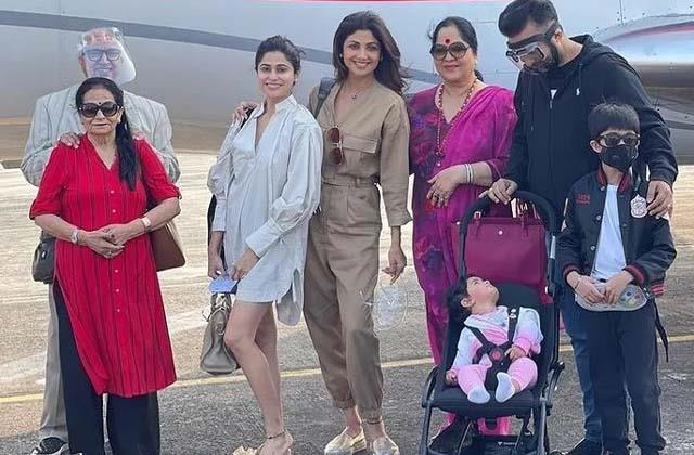 shilpa shetty reach goa for vacation with family
