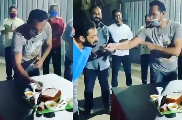 Video:सलमान ने सेलिब्रेट किया बॉडीगार्ड का बर्थडे, केक मिलते ही एक्टर ने दिया ऐसा रिएक्शन