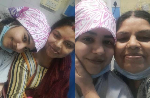 health actress shikha malhotra shares a picture with mom from hospital