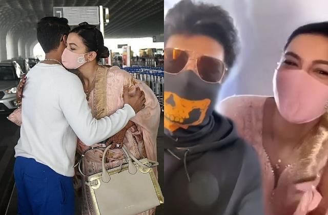 kushal tandon met ex girlfriend gauahar khan in flight says ek haseen ittefakh