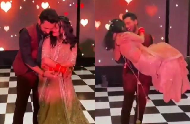 punit pathak romantic dance with wife nidhi moony singh in reception party