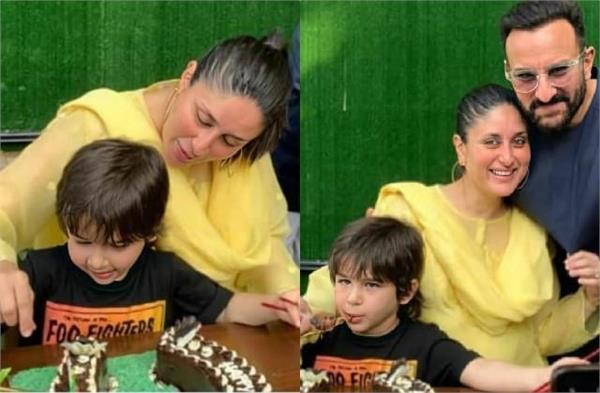 kareena kapoor saif ali khan celebrate son taimur birthday