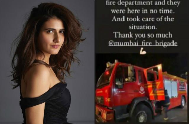 fire in fatima sana sheikh house fire brigade team reached spot