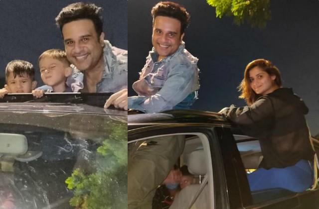 krushna abhishek outing with children and sister aarti singh