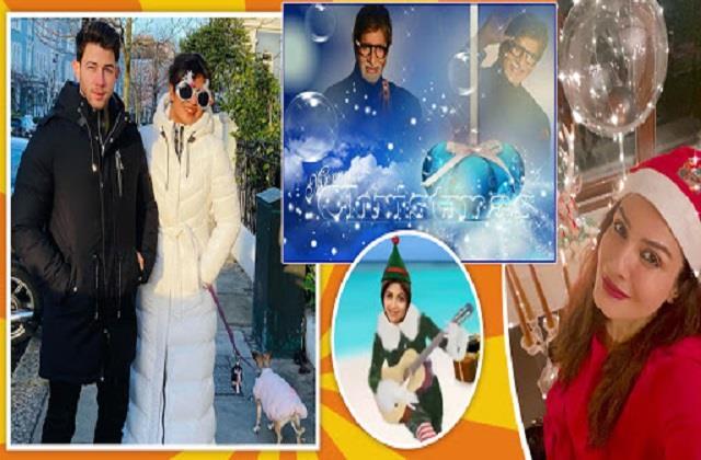 amitabh bachchan to priyanka chopra wishes christmas