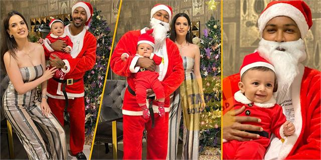hardik pandya and natasa stankovic celebrated christmas with son agastya