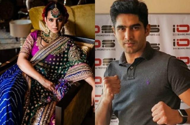 kangana ranaut fight with boxer vijender singh after diljit dosanjh