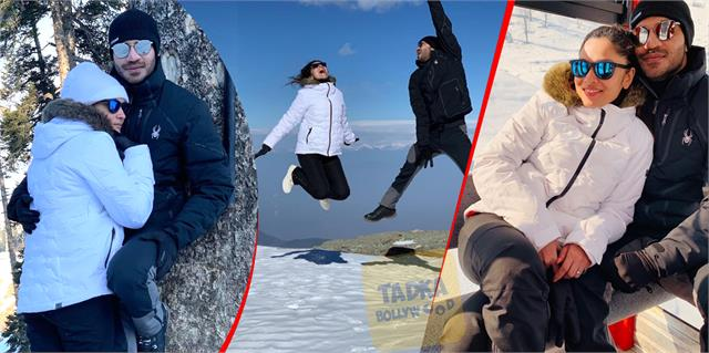 ankita lokhande enjoying snowfall with boyfriend vicky jain